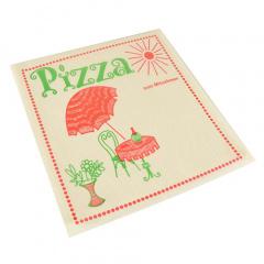 100 Pizzataschen, Pergamin 30 cm x 30 cm -Cafeteria- fettdicht