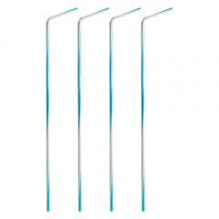 250 Trinkhalme, flexibel Ø 6 mm 40 cm -Bayrisch Blau-
