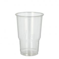 25 Kaltgetränkebecher, PLA -pure- 0,25 l Ø 7,8 cm 11 cm glasklar mit Schaumrand
