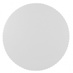 10 Tortenunterlagen, Pappe -pure- rund Ø 30 cm weiss, gezackter Rand