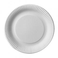 50 Teller, Pappe -pure- rund Ø 23 cm weiss