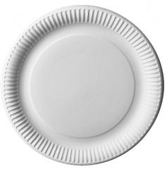 12 Teller, Pappe -pure- rund Ø 29 cm weiss
