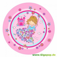 10 Teller, Pappe rund Ø 23 cm -Princess Friends-