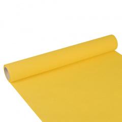 Tischläufer, Tissue -ROYAL Collection- 3 m x 40 cm gelb auf Rolle