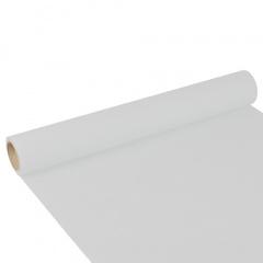 Tischläufer, Tissue -ROYAL Collection- 3 m x 40 cm weiss auf Rolle