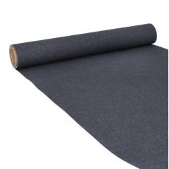 Tischläufer, Tissue -ROYAL Collection- 3 m x 40 cm schwarz auf Rolle