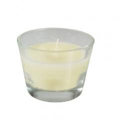 Glas mit Wachsfüllung Ø 100 mm 80 mm elfenbein -Ivory-