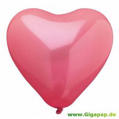 100 Luftballons Ø 25 cm rot -Herz-