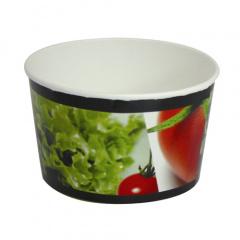 45 Salatschalen, Pappe -To Go- 600 ml Ø 12,5 cm 7,5 cm -salad-