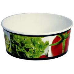 45 Salatschalen, Pappe -To Go- 750 ml Ø 15,1 cm 6 cm -salad-