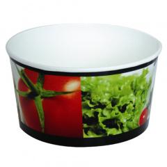 40 Salatschalen, Pappe -To Go- 1 l Ø 15,1 cm 8,2 cm -salad-