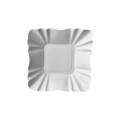 250 Schalen, Pappe -pure- eckig 9 cm x 9 cm x 3 cm weiss