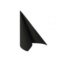 50 Servietten -ROYAL Collection- 1/4-Falz 25 cm x 25 cm schwarz