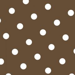 20 Servietten, 3-lagig 1/4-Falz 33 cm x 33 cm braun -Dots-