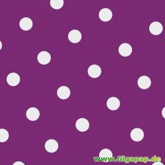 20 Servietten, 3-lagig 1/4-Falz 33 cm x 33 cm lila -Dots-