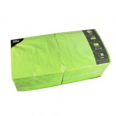 1000 Servietten, 3-lagig 1/4-Falz 33 cm x 33 cm apfelgrün - Karton