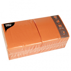 250 Servietten, 3-lagig 1/4-Falz 33 cm x 33 cm orange