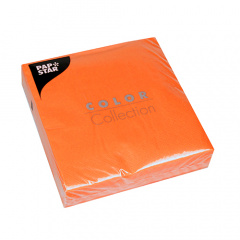 50 Servietten, 3-lagig 1/4-Falz 33 cm x 33 cm orange