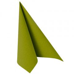 20 Servietten -ROYAL Collection- 1/4-Falz 40 cm x 40 cm olivgrün