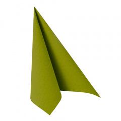 20 Servietten -ROYAL Collection- 1/4-Falz 33 cm x 33 cm olivgrün