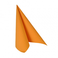 20 Servietten -ROYAL Collection- 1/4-Falz 25 cm x 25 cm orange