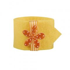 4 Serviettenringe Ø 4 cm gelb -Flower-