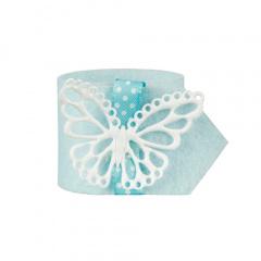 4 Serviettenringe Ø 4 cm kiwi -Butterfly-