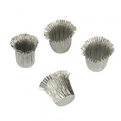 18 Kerzenhülsen Ø 1,9 cm 2,7 cm silber