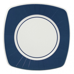 8 Teller, Pappe eckig 26 cm x 26 cm dunkelblau -Basic-
