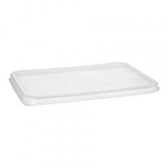 50 Deckel für Verpackungsbecher, PP 0,7 cm x 18,6 cm x 13,3 cm transparent