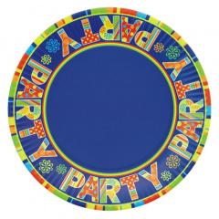 10 Teller, Pappe rund Ø 23 cm -New Party-