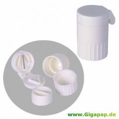 Tablettencrusher - 6,5 cm x 5 cm x 4,2 cm weiss