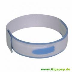 Fixierungsband - 60 cm x 5 cm x 0,4 cm blau/weiss für Urinbeutel