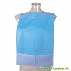 50 Esslätzchen 64 cm x 37,5 cm blau mit Krümeltasche, Einweg