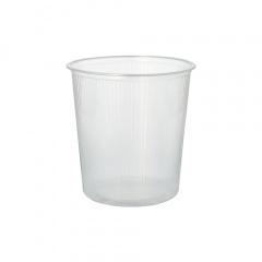 100 Verpackungsbecher, PP rund 500 ml Ø 10,1 cm 10,3 cm transparent