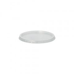 100 Deckel für Verpackungsbecher, PP rund Ø 10,1 cm 0,8 cm transparent