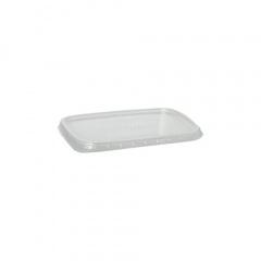 100 Deckel für Verpackungsbecher, PP eckig 0,6 cm x 8,1 cm x 10,8 cm transparent