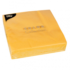 50 Servietten, 2-lagig 1/4-Falz 40 cm x 40 cm gelb