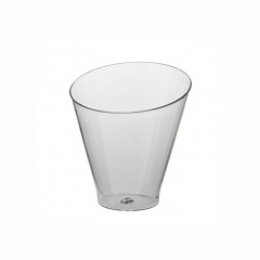 25 Fingerfood - Becher rund 70 ml Ø 6 cm 6,4 cm glasklar -Diagonal-
