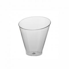25 Fingerfood - Becher rund 70 ml Ø 6 cm 6,4 cm glasklar -Diagonal-