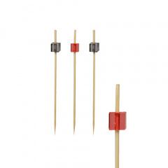 100 Fingerfood - Spieße 9 cm -Cube- schwarz oder rot