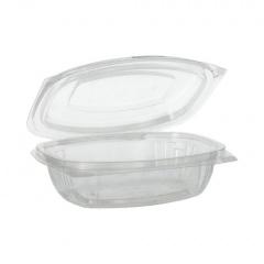 50 Verpackungsbecher mit Klappdeckeln, PLA -pure- 375 ml 4,8 cm x 16,1 cm x 13,2 cm glasklar