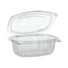 50 Verpackungsbecher mit Klappdeckeln, PLA -pure- 500 ml 6,4 cm x 16,1 cm x 13,2 cm glasklar