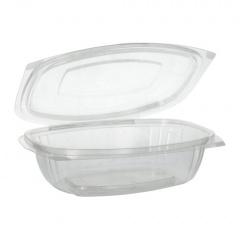 50 Verpackungsbecher mit Klappdeckeln, PLA -pure- 750 ml 6,6 cm x 20,5 cm x 16,8 cm glasklar