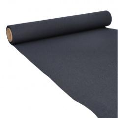 Tischläufer, Tissue -ROYAL Collection- 5 m x 40 cm schwarz auf Rolle