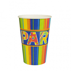 10 Trinkbecher, Pappe 0,2 l Ø 7 cm 9,7 cm -New Party-