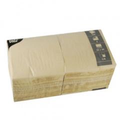 250 Servietten, 3-lagig 1/4-Falz 33 cm x 33 cm sand