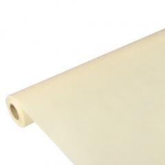 Tischdecke creme 10m x 1,18m stoffähnlich, Vlies