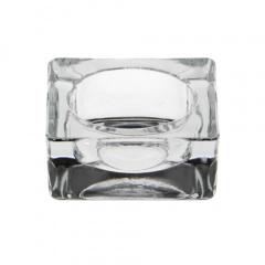 Kerzenhalter, Glas eckig 27 mm x 60 mm x 60 mm glasklar für Teelichte