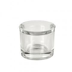 Kerzenhalter, Glas rund Ø 63 mm 55 mm glasklar für Teelichte